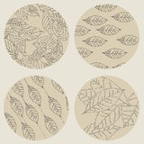 Abstract background with leaves. Vector Illustration Royalty Free Stock Photos