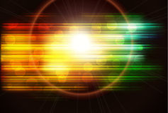 Abstract background. With lens flare Stock Photography