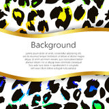 Abstract background with leopard print design. Abstract background with leopard skin design royalty free illustration