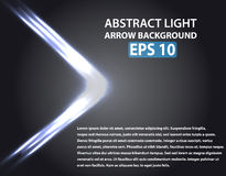 Abstract background with light arrow. Blue elements. Vector illustration, EPS 10 Royalty Free Stock Photography