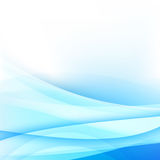 Abstract background light blue curve and wave element vector ill. Ustration Royalty Free Stock Image