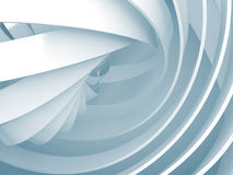 Abstract background with light blue 3d spiral structures Stock Image