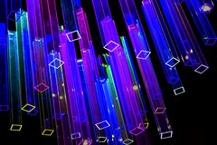 Abstract background with light colored neon prisms. Abstract background with light colored prisms stock image