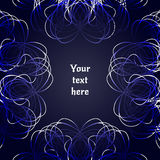 Abstract Background with light frame decoration. Vector illustration. Royalty Free Stock Photo