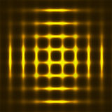 Abstract background with light grid. The golden light. Background with dots Royalty Free Stock Photography