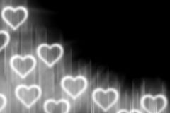 Abstract background with light heart blank for text Royalty Free Stock Image