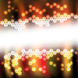 Abstract background light. Abstract background with hexagon light Stock Illustration