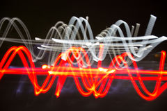 Abstract background of light line. Abstract background of night light on street stock photography