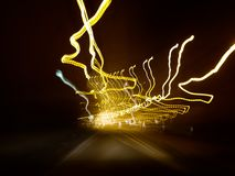 Abstract Background : Light painting in random concept. Trail of stock image