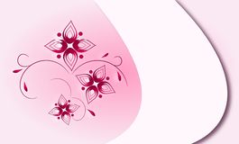 Abstract background. Light pink abstract background with floral motives Vector Illustration