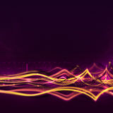 Abstract Background with Light Waves Royalty Free Stock Photo