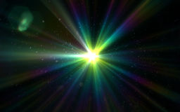 Abstract background lighting flare. And blcak background Stock Illustration