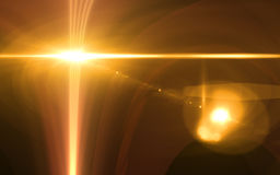 Abstract background lighting flare special effect. Len flare effect.Sunrise flare Royalty Free Stock Image