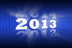 Abstract Background of Lighting New Year 2013 Royalty Free Stock Photo
