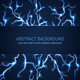 Abstract background with lightnings and text Royalty Free Stock Photos
