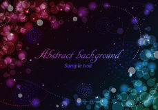 Abstract background with lights Royalty Free Stock Photo