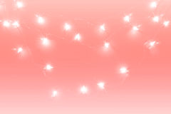 Abstract background lights decoration pink tone Stock Images
