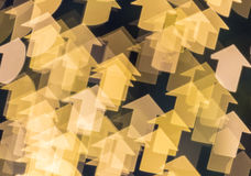 Abstract background of lights in the form of an arrow shape Royalty Free Stock Image