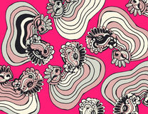 Abstract background line art design pink and white | pattern illustration retro art Stock Image