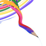Abstract background line of colour pencil. As rainbow illustration Stock Images