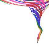 Abstract background line of colour pencil. As rainbow illustration Stock Photos