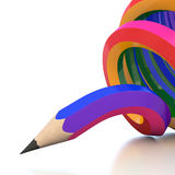 Abstract background line of colour pencil. Illustration Stock Photos