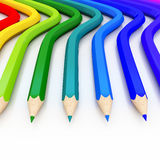 Abstract background line of colour pencil. As rainbow illustration Stock Image