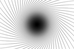 Abstract background lines black hole. 3d illustration Stock Image