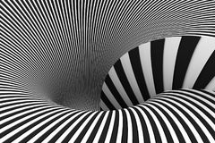 Abstract background lines black and white. 3d illustration Stock Photography