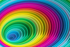 Abstract background with lines circle color. The colored circles show the increase in variety of colors vector illustration