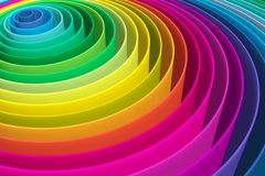 Abstract background with lines circle color. The colored circles show the increase in variety of colors royalty free illustration