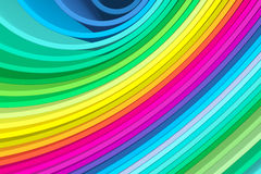 Abstract background with lines circle color. The colored circles show the increase in variety of colors stock illustration