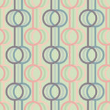 Abstract background with lines and circles. Seamless vector patt Royalty Free Stock Photo