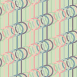 Abstract background with lines and circles. Seamless vector pattern. Abstract illustration. Stylized texture with lines and circles. Pale colors stock illustration