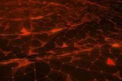 Abstract background of lines and dots, low poly mesh. Concept cloud internet connections technology connections. The. Current example of artificial intelligence stock illustration