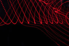 Abstract background with lines and dots in red Royalty Free Stock Photography