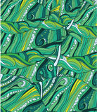 Abstract background with lines. Flourishes,patterns in shades of green stock illustration