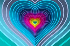 Abstract background with lines heart color Royalty Free Stock Image