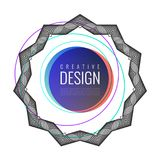 Abstract background with lines. Modern vector template for design royalty free illustration