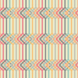Abstract background with lines and squares. Seamless vector patt Stock Photos