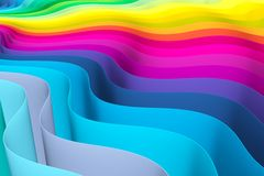 Abstract background with lines wave color Stock Image