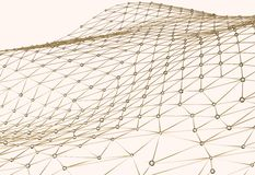 Abstract background of links and connections net nodes isolated 3d illustration Royalty Free Stock Photo