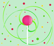 Abstract background with lollipop Stock Photo