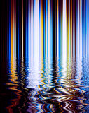 Abstract background of lomo color line  and refection on surface. Water Royalty Free Stock Photography