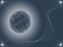 Abstract background looking like globe. Illustration Stock Photography