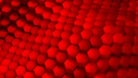Hexagons formed a wave. Abstract background, 2 in 1, loop 301-600 frames, created in 4K, 3d animation stock video