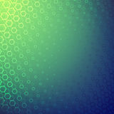 Abstract background with lots of geometric shapes. The illusion of depth to the space. Bright colors Stock Image