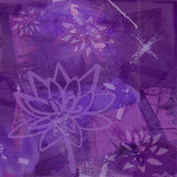 Abstract Background with Lotus Flower in Purple Royalty Free Stock Photo