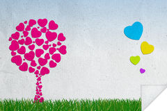 Abstract background of love Stock Image