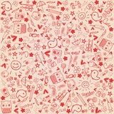 Abstract Background - love Doodles collection. An illustration of an love doodles abstract background Stock Photos